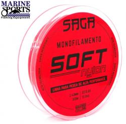 Linha Monofilamento SAGA Marine Sports 0,40mm 300m Laranja