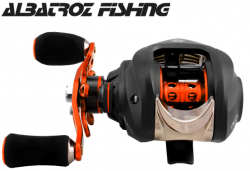 Carretilha Python Albatroz Fishing - 8 rol. 7.0:1  Direita GOLD