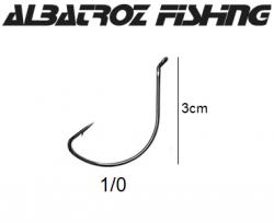 Anzol Wide Gap 1/0 Albatroz