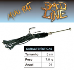 Isca Bad Line Mini Rat - 5cm 7g - NOVAS CORES