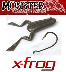 Kit Traíra Monster 3X | 5 X-Frog + 1 Anzol Offset