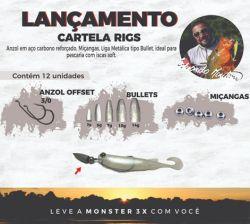 Cartela Rigs Monster 3X by Eduardo Monteiro | 12 Unidades