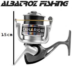 Molinete Albatroz Fishing Canário 60 Preto com Linha