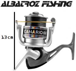Molinete Albatroz Fishing Canário 40 Preto com Linha