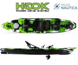 Caiaque Milha Náutica Hook | Pedal opcional