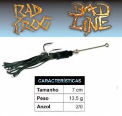 Isca Bad Line Bad Frog - 7cm 13,5g - NOVAS CORES