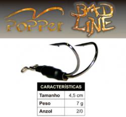 Isca Bad Line V Popper - 4,5cm 7g - NOVAS CORES