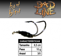 Isca Bad Line Bad Bird - 8,5cm 10g - NOVAS CORES